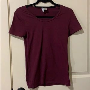 H&M Tops - H&M divided Burgundy tee
